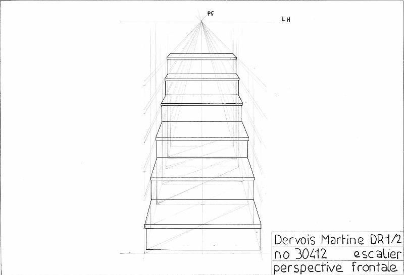 Perspective D Un Escalier Images : Galerie crayon papier escalier perspective frontale