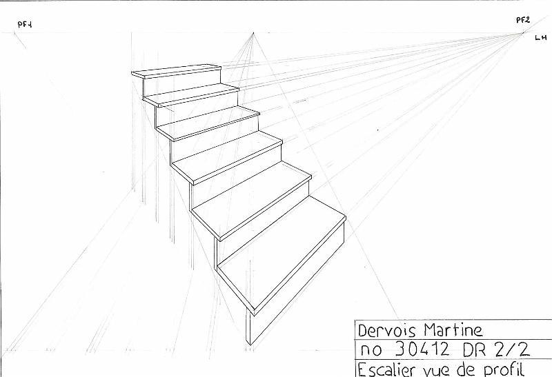 Perspective D Un Escalier Images : Galerie crayon papier escalier perspective profil